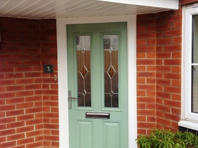 leaf green composite door