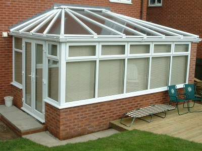 white red-brick conservatory