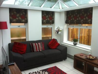 Inside an edwardian style conservatory