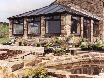 Edwardian conservatory at a stone built house