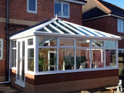 white pvc Edwardian style conservatory
