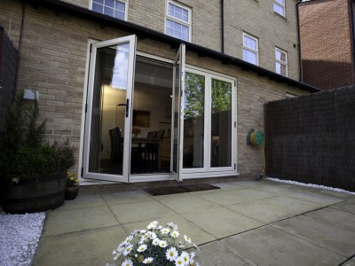patio bi-fold doors in upvc