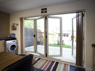 slim panoramic Bifold doors