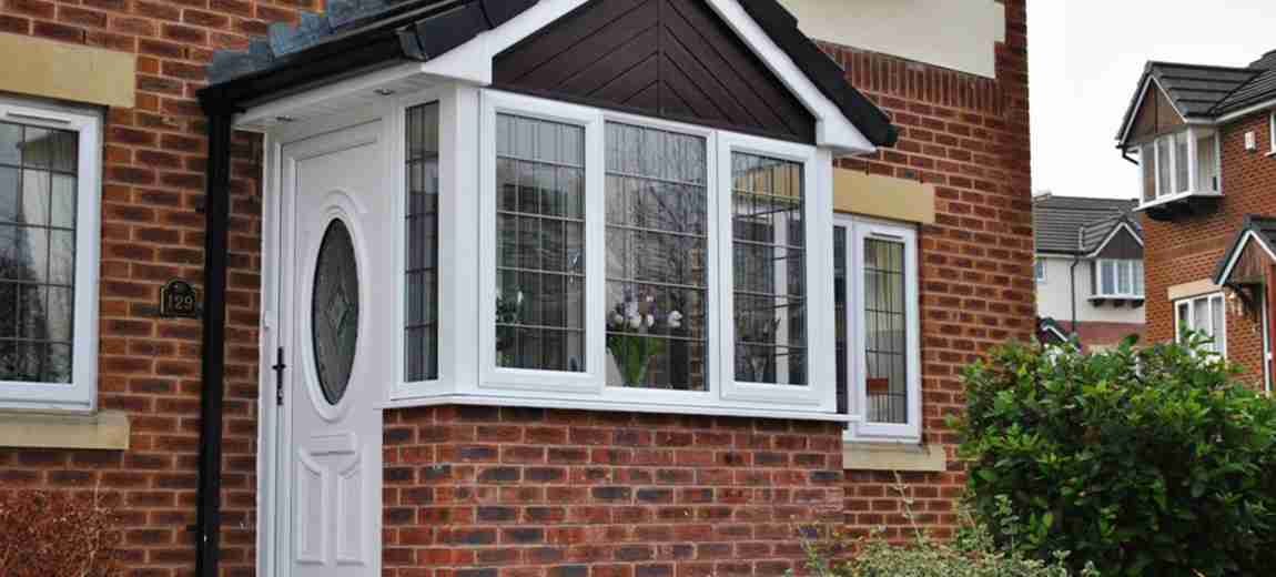 white double glazed windows