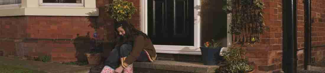 black pvc front door