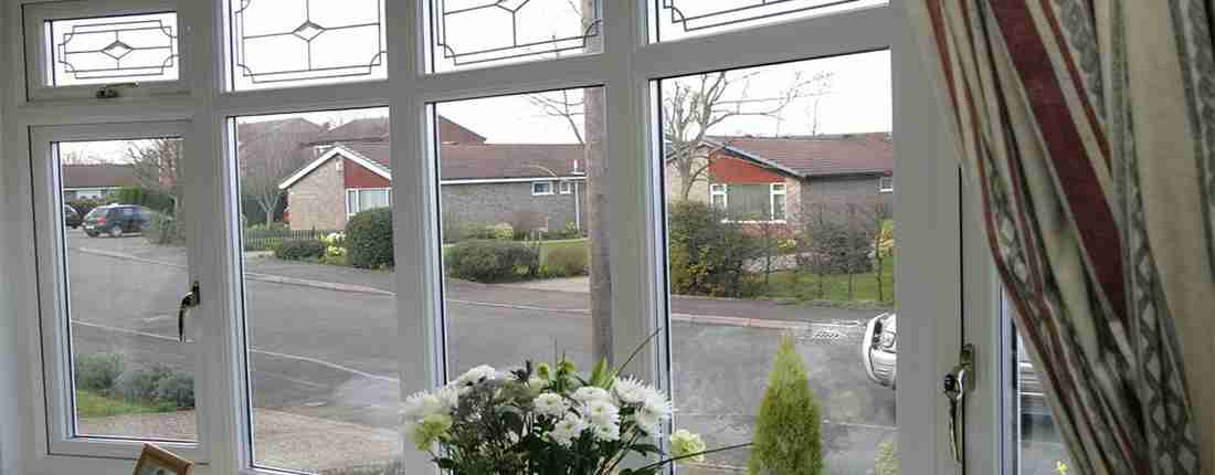 looking through upvc windoews