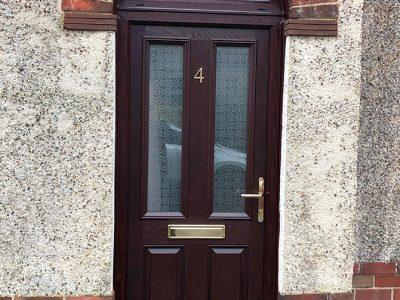 brown composite replacement door