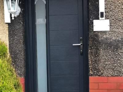 black composite replacement door