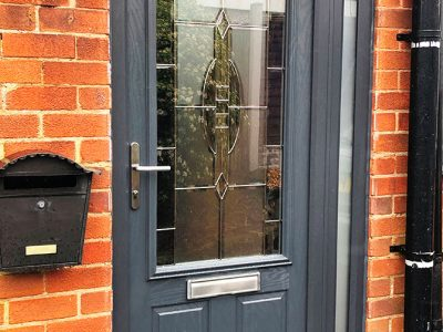 grey composite replacement door