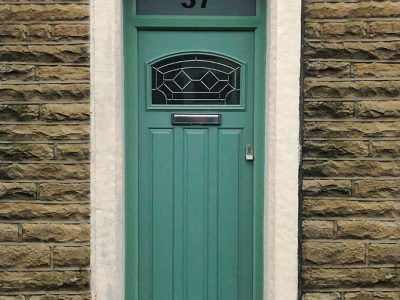 green composite replacement door