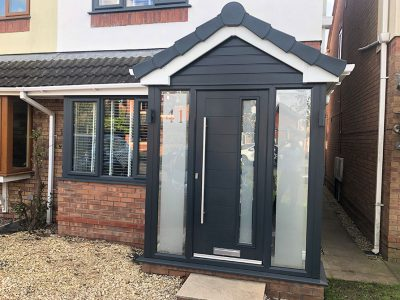 black and frosted glass porch from Porch builders RTE