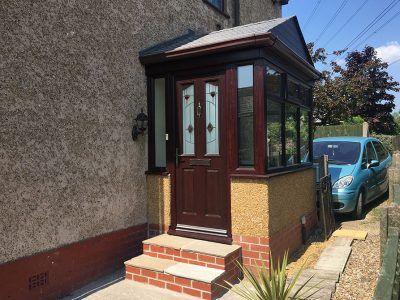 brick and render porch from Porch builders RTE