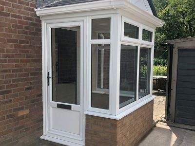 brick and upvc porch | porch builders