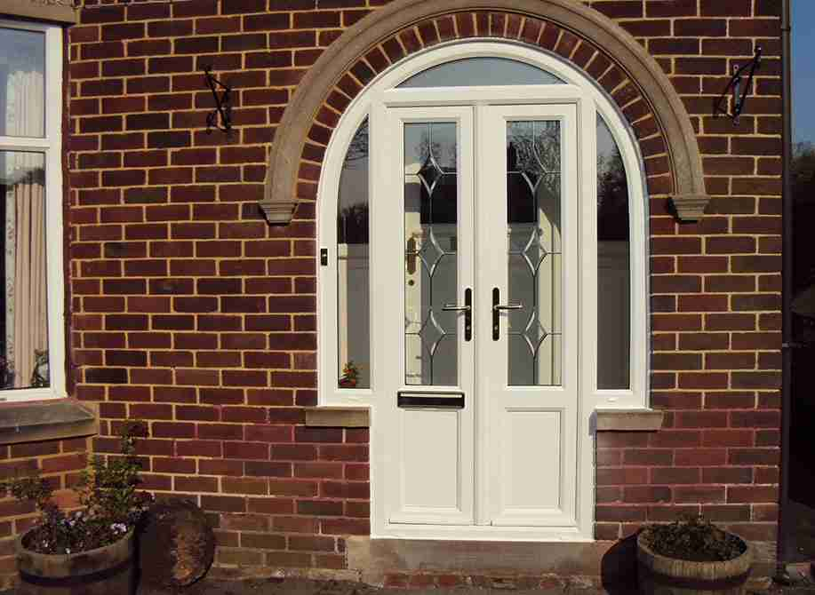 white upvc replacement door