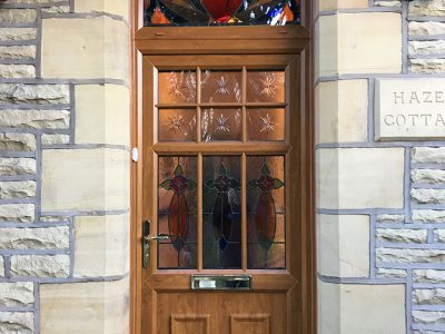 wood effect upvc replacement door