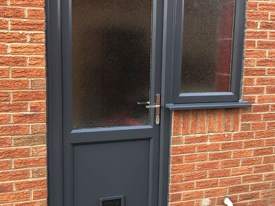 grey upvc replacement door