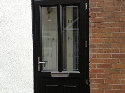 black upvc replacement door